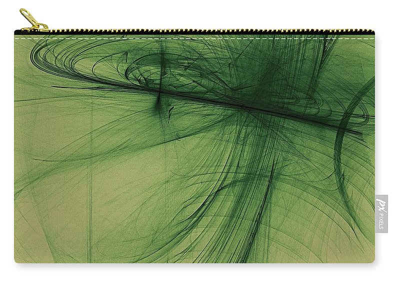 Digital Art Carry-all Pouch featuring the digital art Vertigo by Dragica Micki Fortuna
