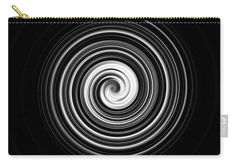 Black And White Carry-all Pouch featuring the photograph Vertigo by Scott Wyatt