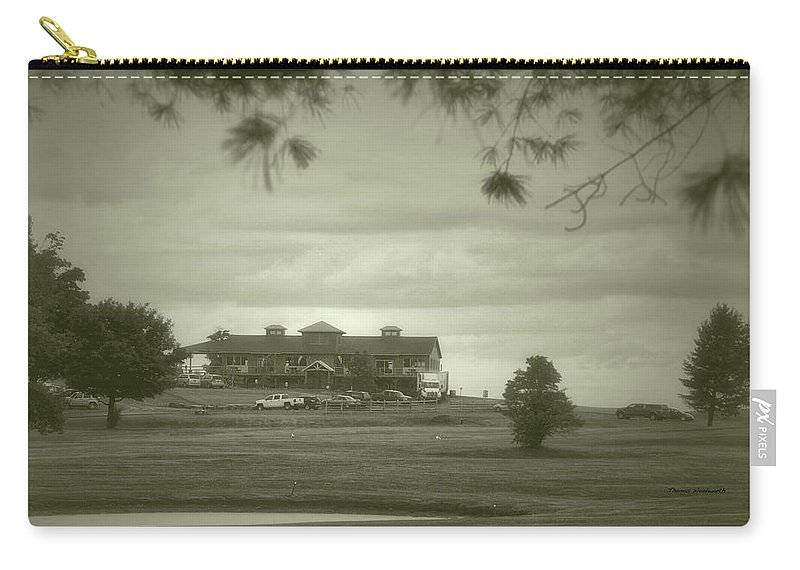 Tully New York Carry-all Pouch featuring the photograph Vesper Hills Golf Club Tully New York Antique 02 by Thomas Woolworth