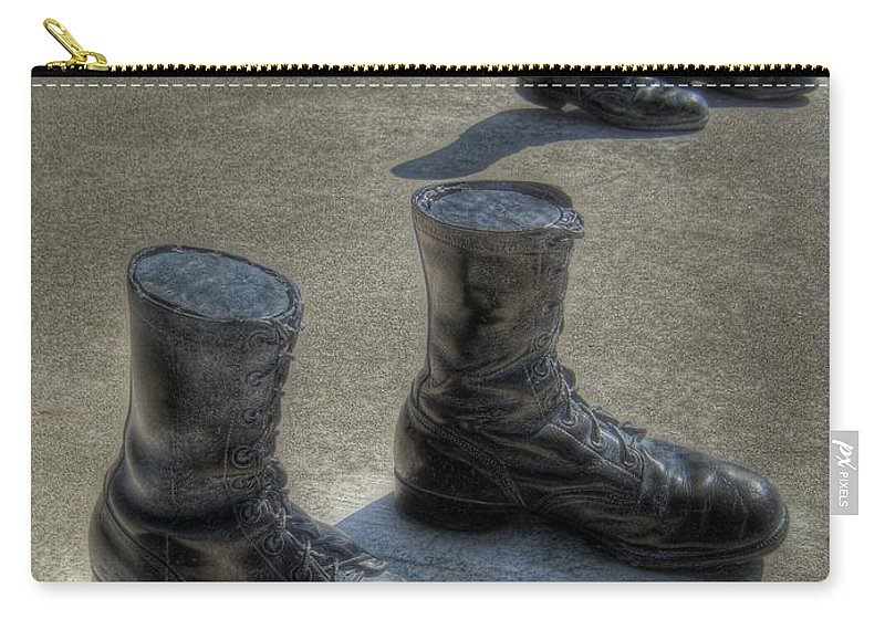 Boots Carry-all Pouch featuring the photograph Veteran's Memorial Walk by Jane Linders