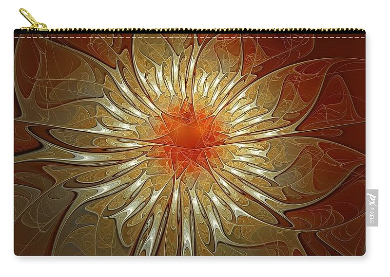 Digital Art Carry-all Pouch featuring the digital art Vibrance by Amanda Moore