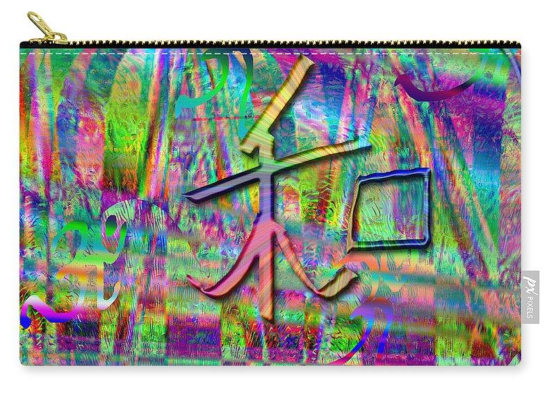 Harmony Symbol Abstract Carry-all Pouch featuring the digital art Vibrant Harmony by Rizwana A Mundewadi