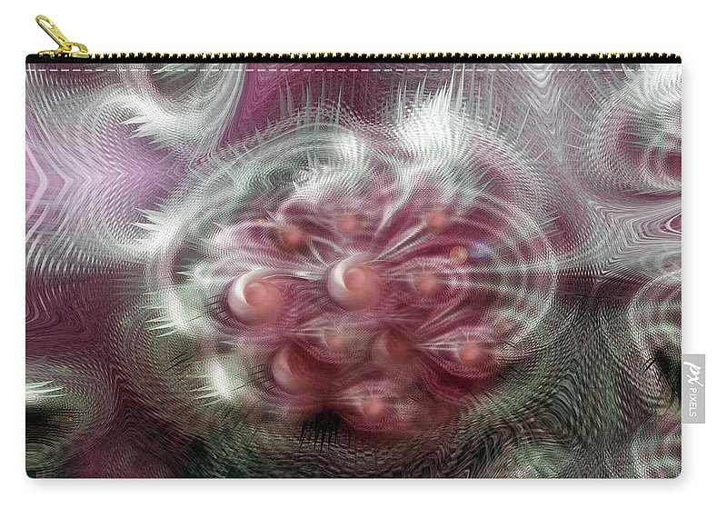 Abstract Art Carry-all Pouch featuring the digital art Vibrations by Linda Sannuti