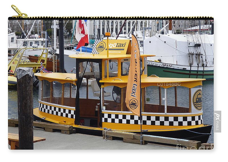 Taxi Carry-all Pouch featuring the photograph Victoria Water Taxi by Charles Robinson
