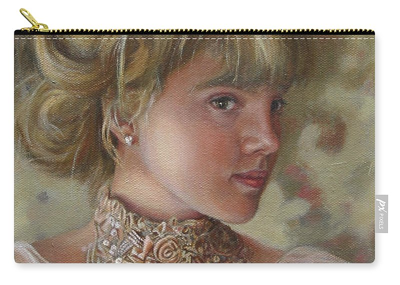 Figurative Art Carry-all Pouch featuring the painting Victorian Beauty by Portraits By NC