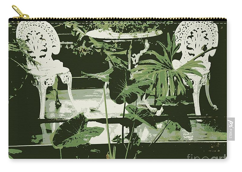 Victorian Carry-all Pouch featuring the photograph Victorian Garden Poster by Carol Groenen