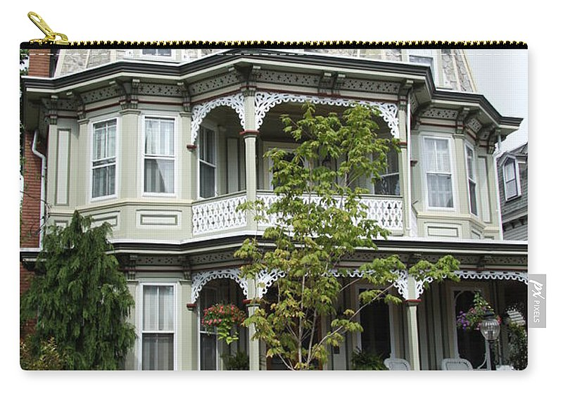 Victorian House Carry-all Pouch featuring the photograph Victorian House by Christiane Schulze Art And Photography