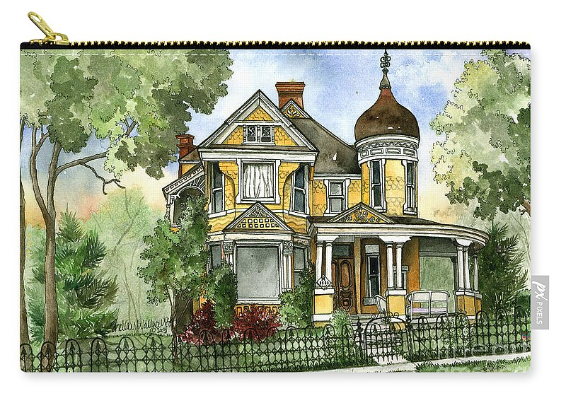 Victorian Carry-all Pouch featuring the painting Victorian In The Avenues by Shelley Wallace Ylst