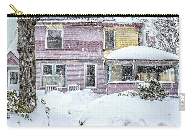 Snow Carry-all Pouch featuring the photograph Victorian Snowstorm by Edward Fielding