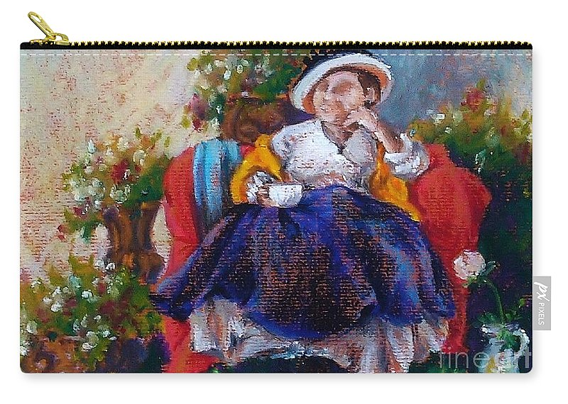 Tea Carry-all Pouch featuring the painting Victorian Tea Time by K M Pawelec