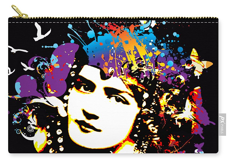 Nostalgic Seduction Carry-all Pouch featuring the digital art Victorian Temptation - Bespattered by Chris Andruskiewicz