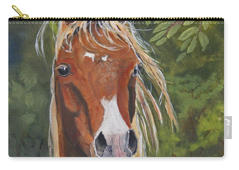 Horse Carry-all Pouch featuring the painting Victory by Heather Coen