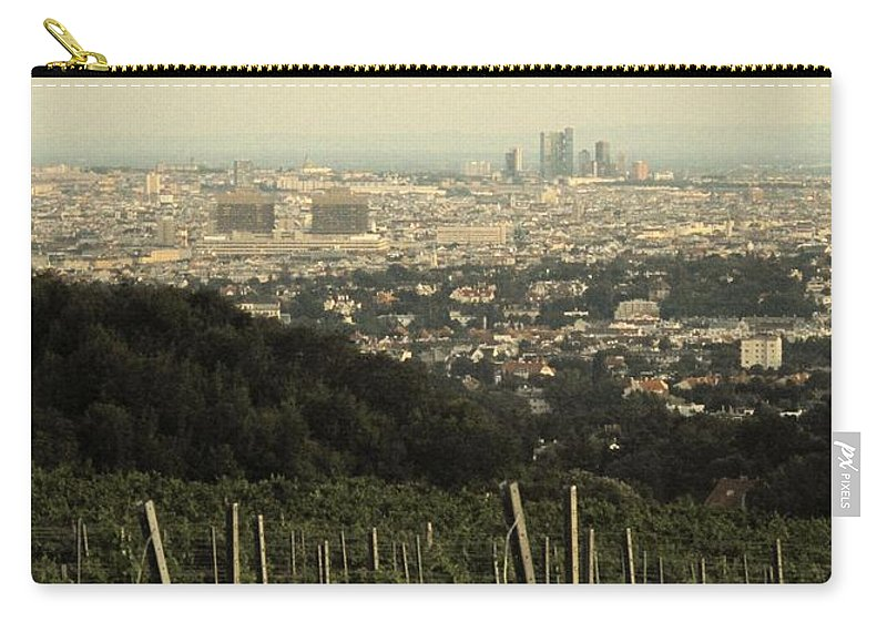 Vineyard Carry-all Pouch featuring the photograph Vienna From The Vineyard by Ian MacDonald