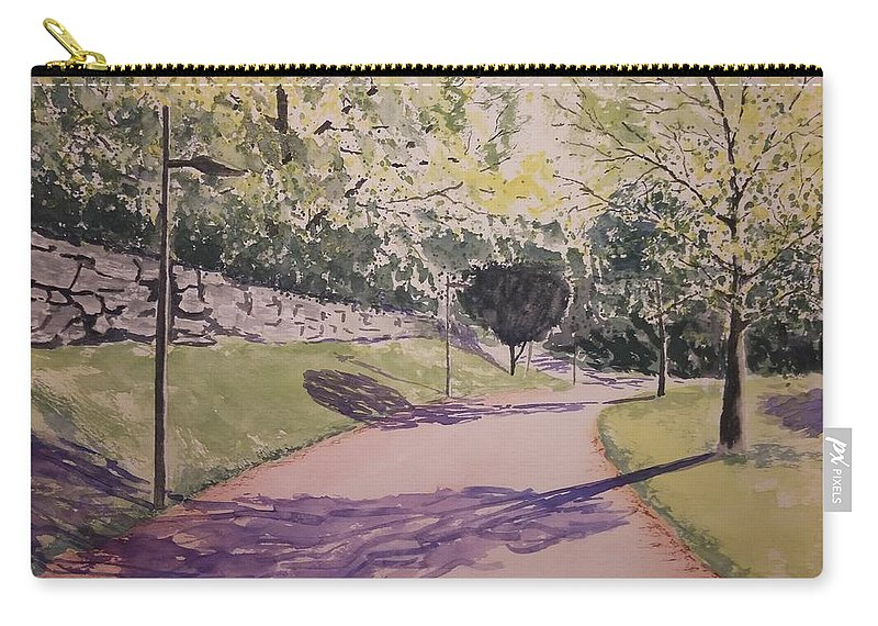 Watercolor Carry-all Pouch featuring the painting Vienna In Summer by Marko Ivancevic