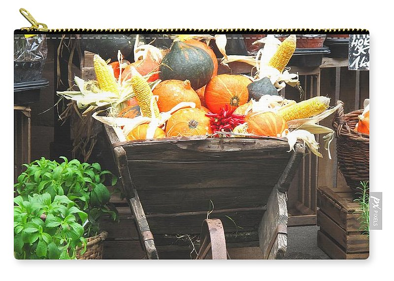 Vienna Carry-all Pouch featuring the photograph Vienna New Market by Ian MacDonald