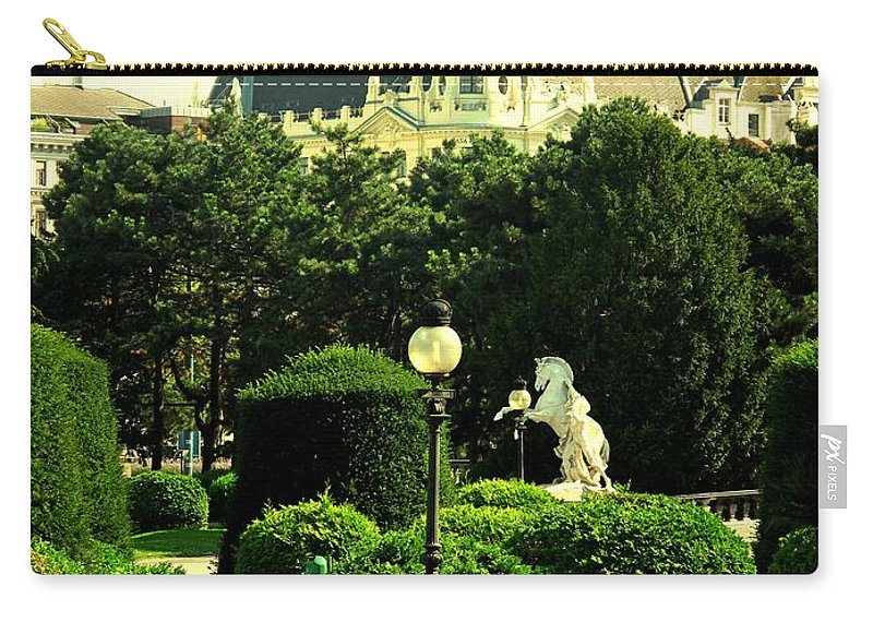 Vienna Carry-all Pouch featuring the photograph Vienna Park by Ian MacDonald