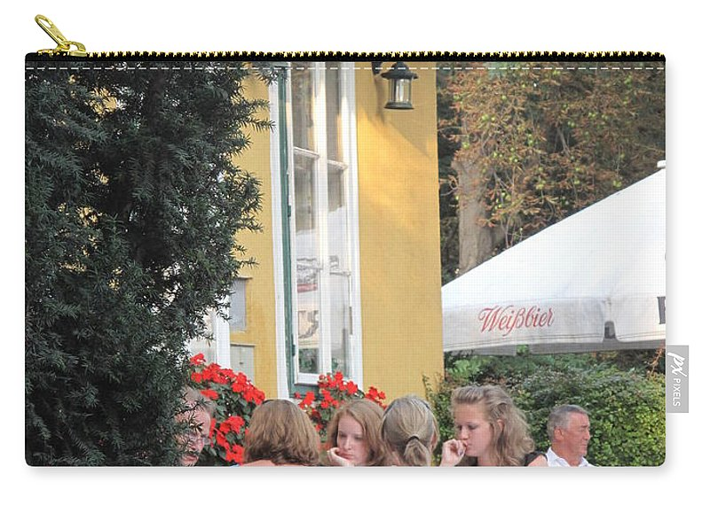 Vienna Carry-all Pouch featuring the photograph Vienna Restaurant In The Park by Ian MacDonald