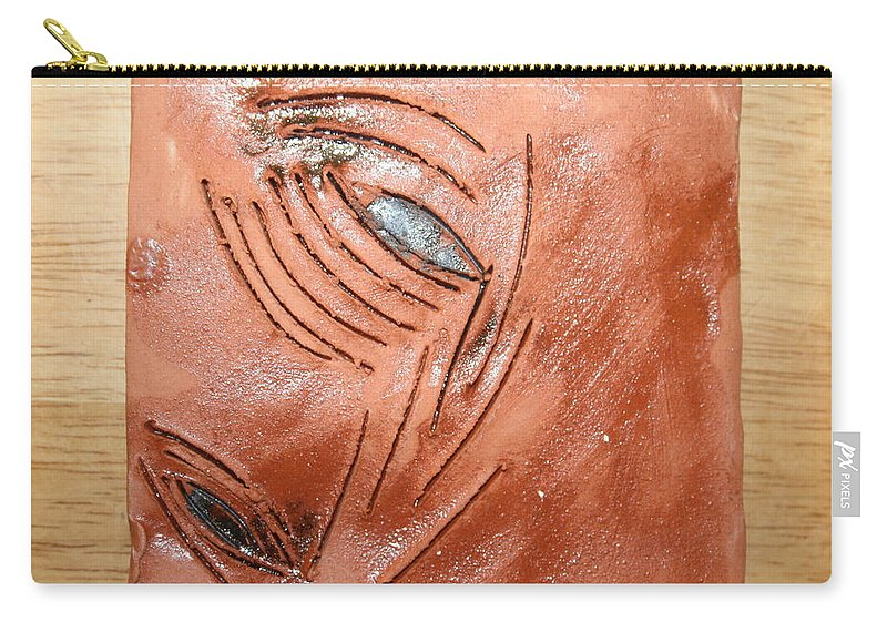 Jesus Carry-all Pouch featuring the ceramic art View - Tile by Gloria Ssali