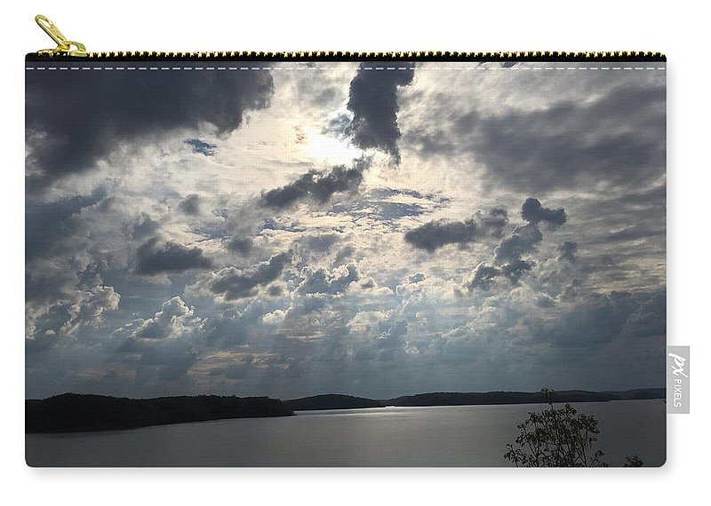 Wappapello Lake Carry-all Pouch featuring the photograph View Across Wappapello Lake IIi by James Pinkerton