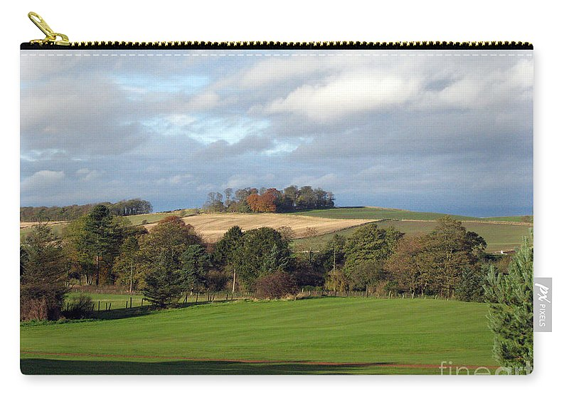 Scotland Carry-all Pouch featuring the photograph View At The Dalmahoy by Amanda Barcon