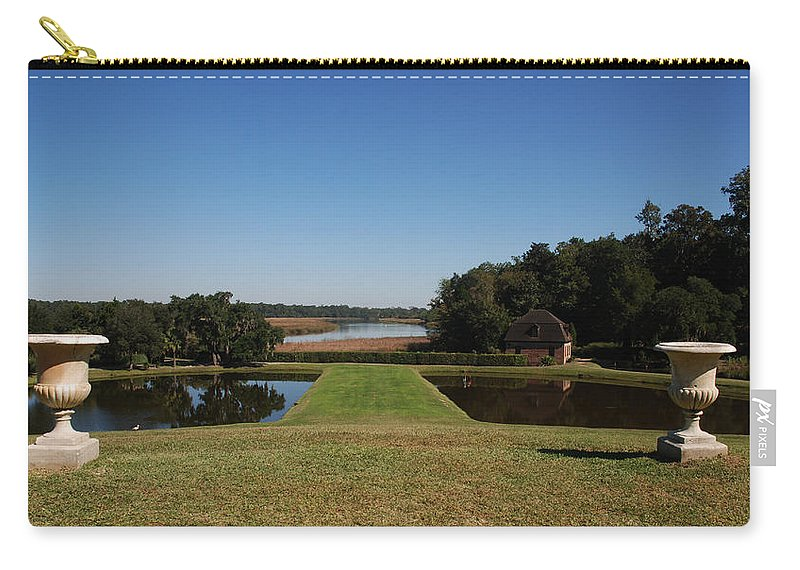 Photography Carry-all Pouch featuring the photograph View Down To The Ashley River At Middleton Place Plantation Charleston by Susanne Van Hulst