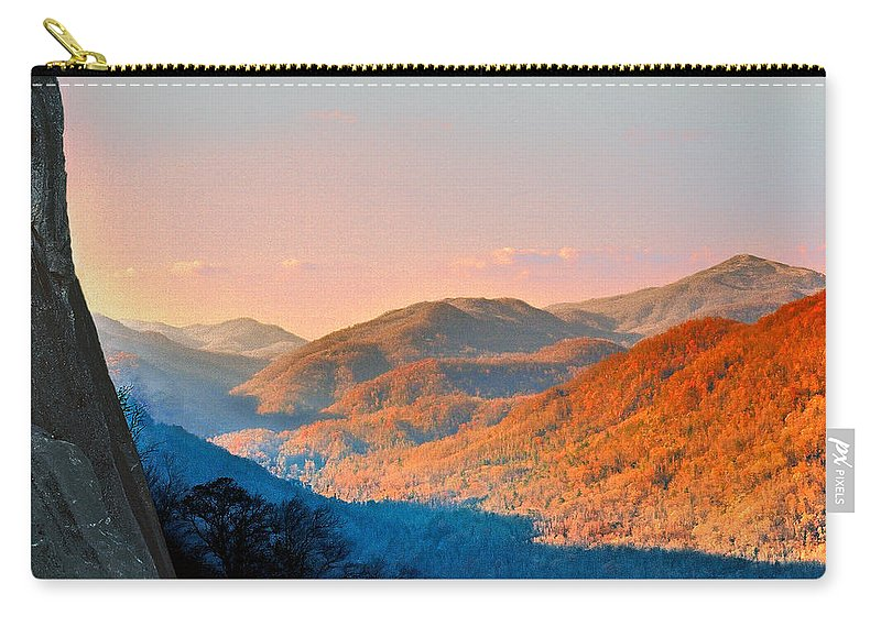 Landscape Carry-all Pouch featuring the photograph View From Chimney Rock-north Carolina by Steve Karol