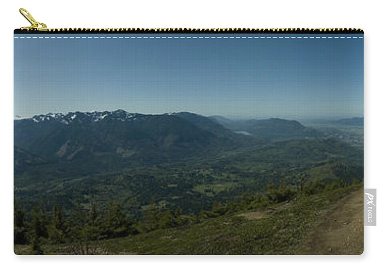 Elk Mountain Carry-all Pouch featuring the photograph View From Elk Mountain by Rod Wiens