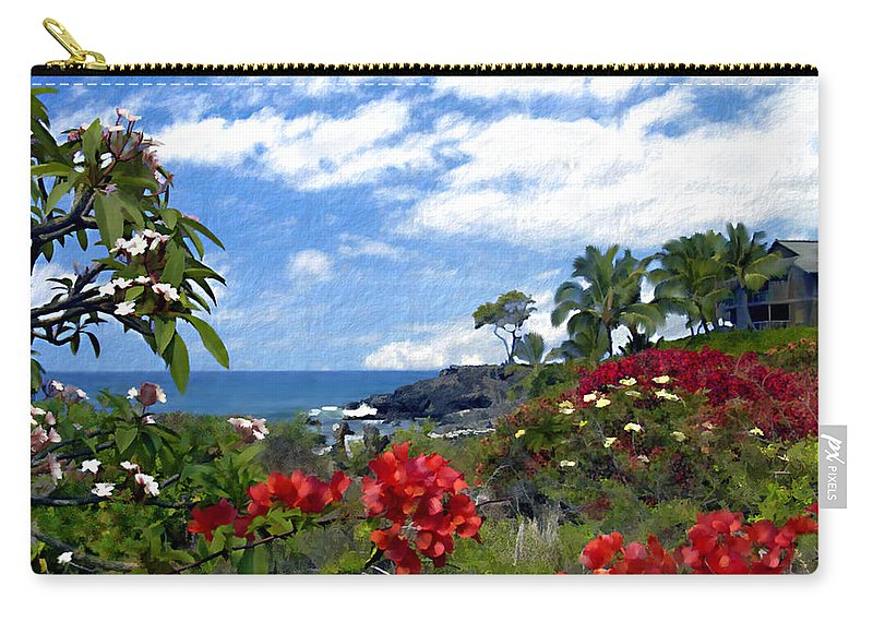 Hawaii Carry-all Pouch featuring the photograph View From Keauhou Kona by Kurt Van Wagner