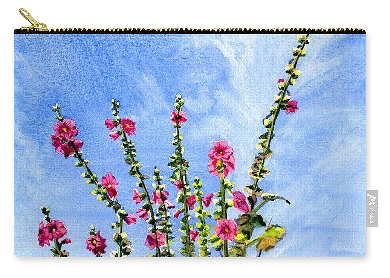 Reach To The Sky Carry-all Pouch featuring the painting View From Main St Monhegan by Melly Terpening