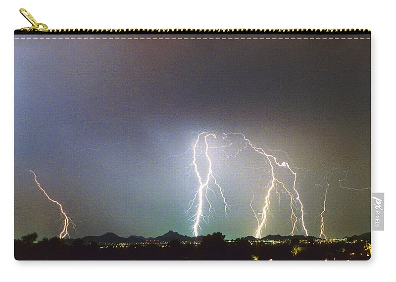 Arizona Carry-all Pouch featuring the photograph View From Oaxaca Restaurant Ll by James BO Insogna