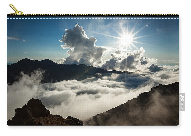Alaska Carry-all Pouch featuring the photograph View From Ptarmigan Peak by Tim Newton