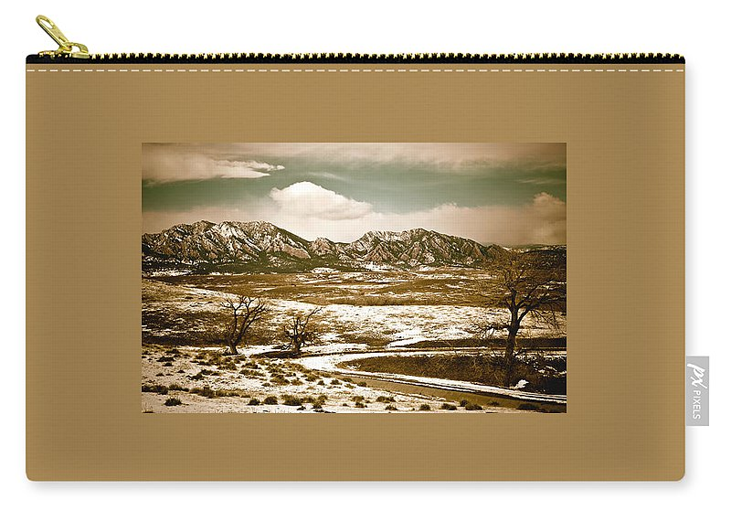 Landscape Carry-all Pouch featuring the photograph Flatironsview From Superior by Marilyn Hunt