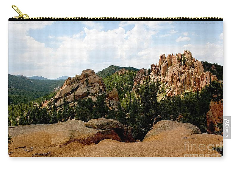 Crags Carry-all Pouch featuring the photograph View From The Crags by Steve Krull
