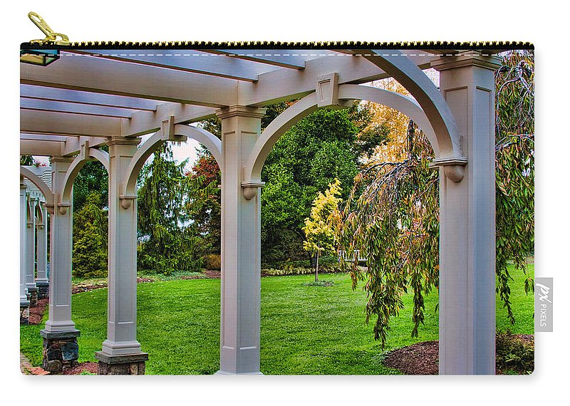 Arches Carry-all Pouch featuring the photograph View From The Garden Way by Mike Smale