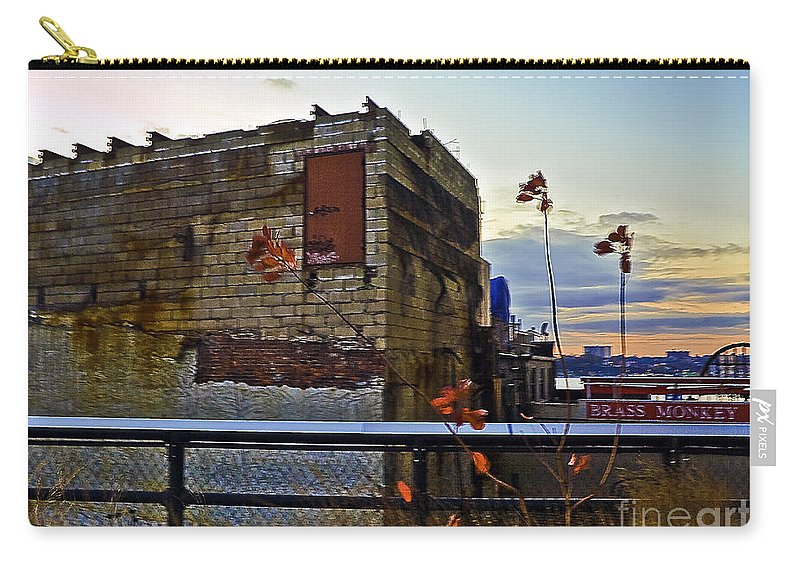 High Line Carry-all Pouch featuring the photograph View From The High Line by Madeline Ellis