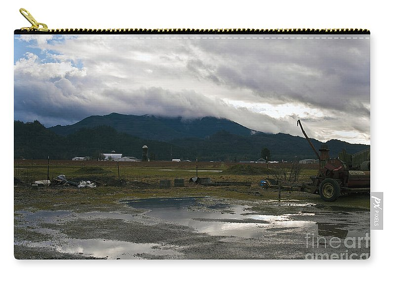 Clay Carry-all Pouch featuring the photograph View From The Horse Barn by Clayton Bruster