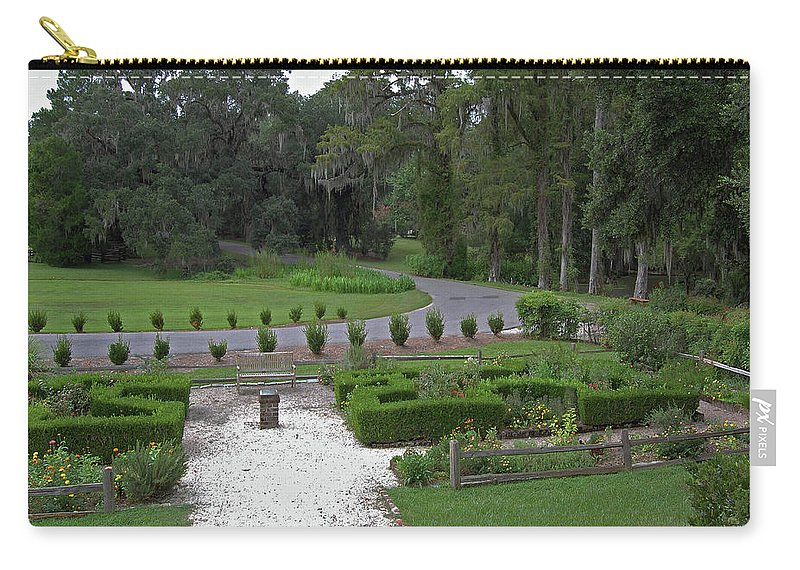 Plantation Carry-all Pouch featuring the digital art View From The Porch by DigiArt Diaries by Vicky B Fuller