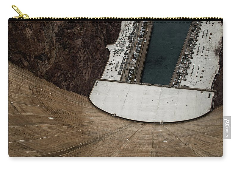 America Carry-all Pouch featuring the photograph View From Top Of Hoover Dam by Srinivasan Venkatarajan