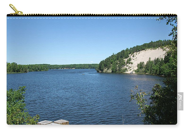 Au Sable River Carry-all Pouch featuring the photograph View by Linda Kerkau