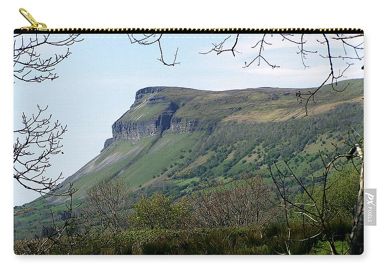 Irish Carry-all Pouch featuring the photograph View Of Benbulben From Glencar Lake Ireland by Teresa Mucha