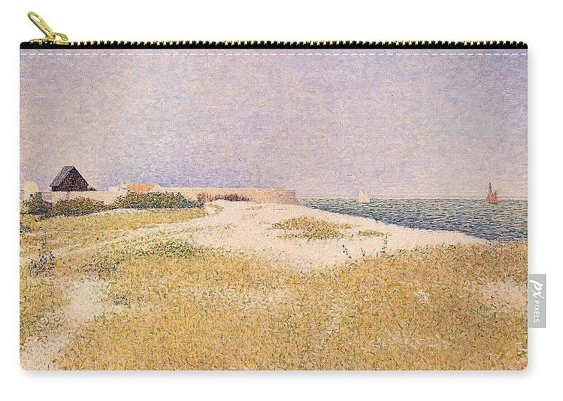 Seurat Carry-all Pouch featuring the painting View Of Fort Samson by Georges Pierre Seurat