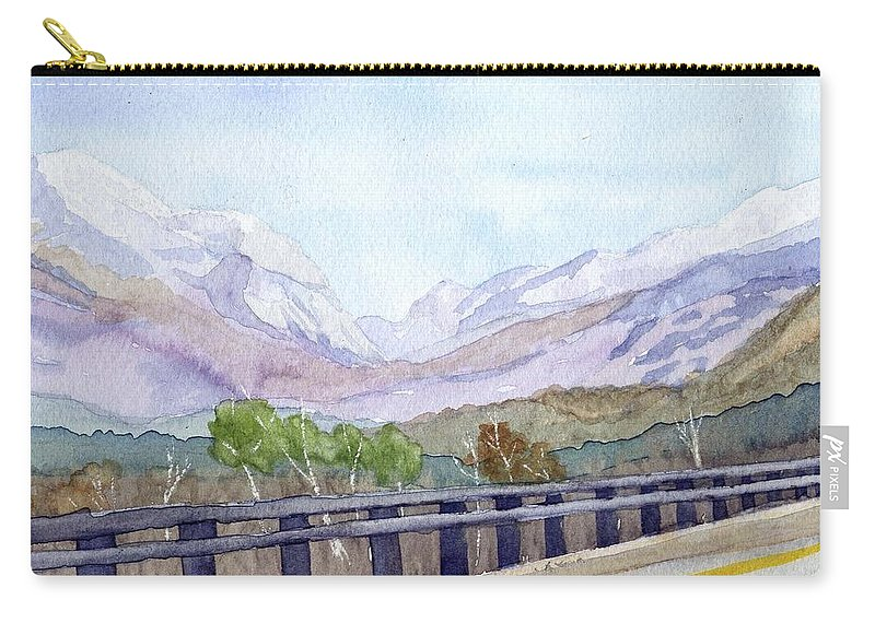 Franconia Notch Carry-all Pouch featuring the painting View Of Franconia Notch by Sharon E Allen
