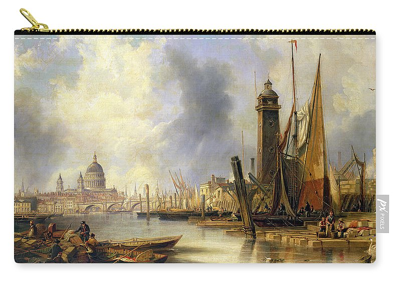Carmichael Carry-all Pouch featuring the painting View Of London With St Paul's by John Wilson Carmichael