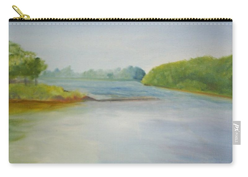 Delaware River Carry-all Pouch featuring the painting View Of The Delaware by Sheila Mashaw