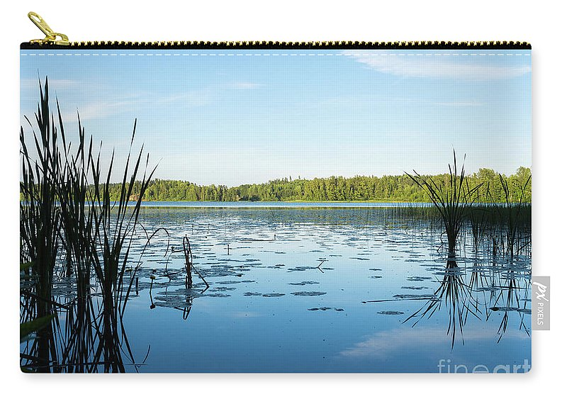Waterscape Carry-all Pouch featuring the photograph View Of The Lake Enajarvi by Ismo Raisanen