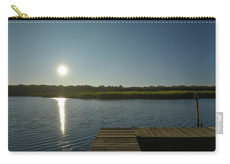 Marsh Carry-all Pouch featuring the photograph View Of The Marsh by Joan D Squared Photography