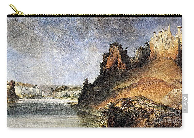 1830s Carry-all Pouch featuring the photograph View Of The Stone Walls by Granger