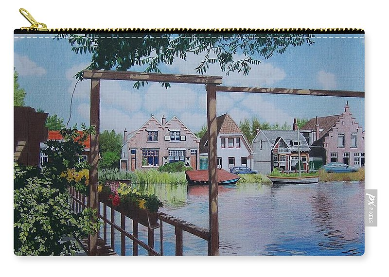 Landscape Carry-all Pouch featuring the mixed media View On Hillegersberg by Constance Drescher