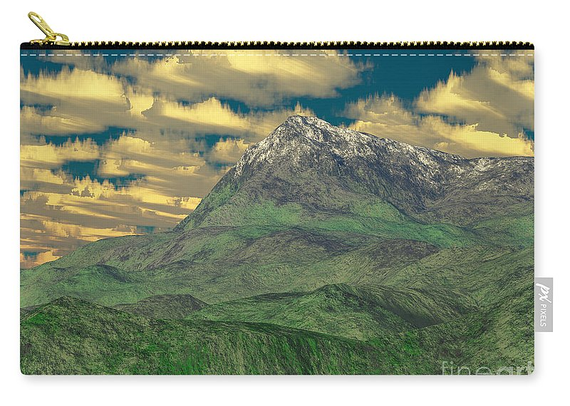 Digital Art Carry-all Pouch featuring the digital art View To The Mountain by Gaspar Avila
