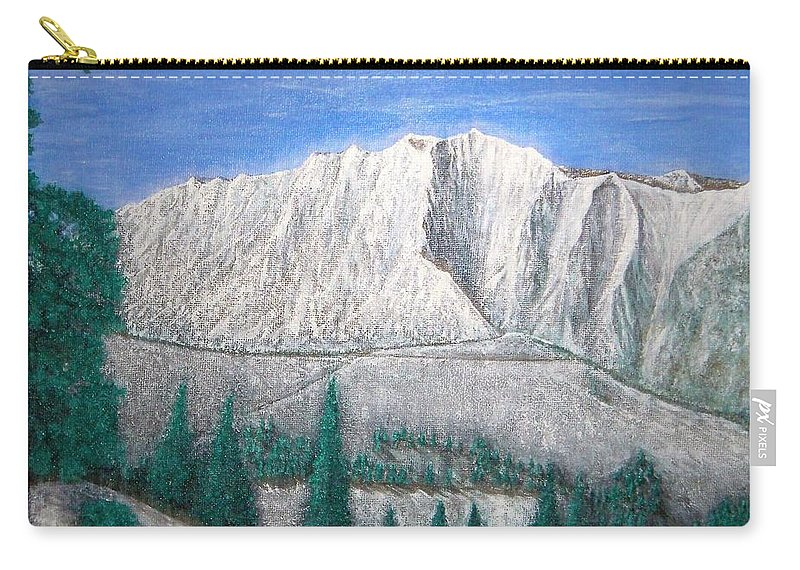 Snow Carry-all Pouch featuring the painting Viewfrom Spruces by Michael Cuozzo